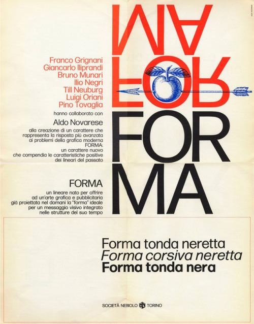 Forma, Società Nebiolo - Torino, 1968