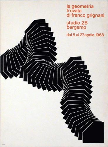 La geometria trovata di Franco Grignani, Bergamo, 1968