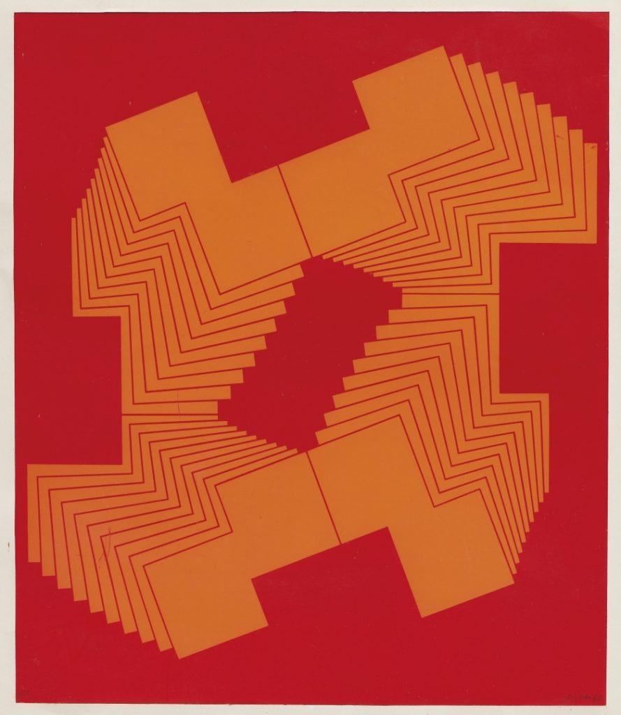 Franco Grignani, Lithograph Print, 1969