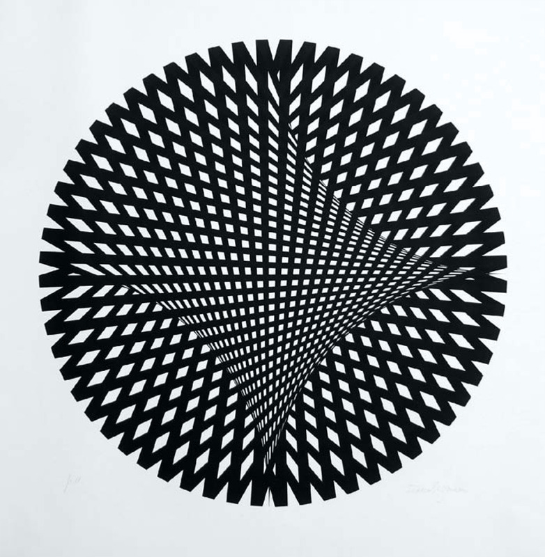 Franco Grignani, Silk-Screen Print, 1970