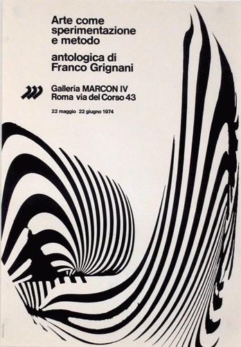 Arte come sperimentazione e metodo - antologica di Franco Grignani, Roma, 1974