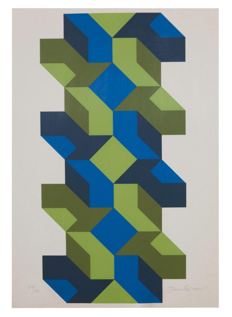 Franco Grignani, Lithograph Print, 1980