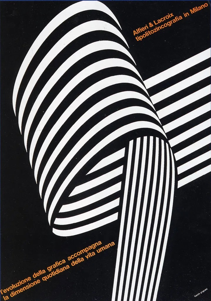 Franco Grignani, Ad for Alfieri & Lacroix, 1967