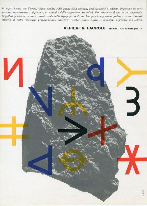 Franco Grignani, Ad for Alfieri & Lacroix, 1956