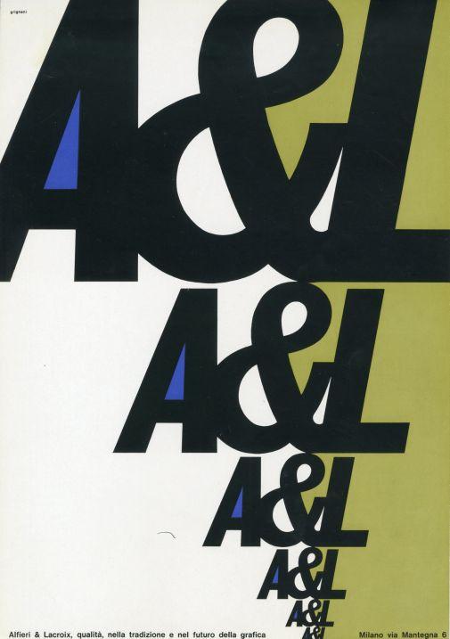 Franco Grignani, Ad for Alfieri & Lacroix, 1962