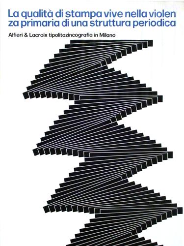 Franco Grignani, Ad for Alfieri & Lacroix, 1968