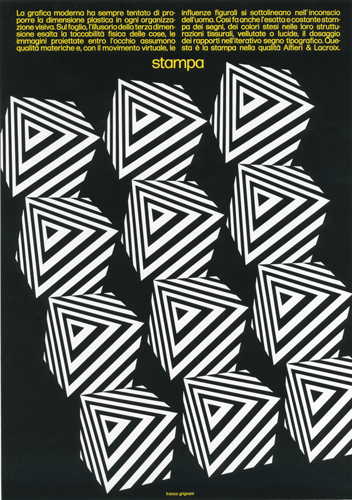 Franco Grignani, Ad for Alfieri & Lacroix, 1974