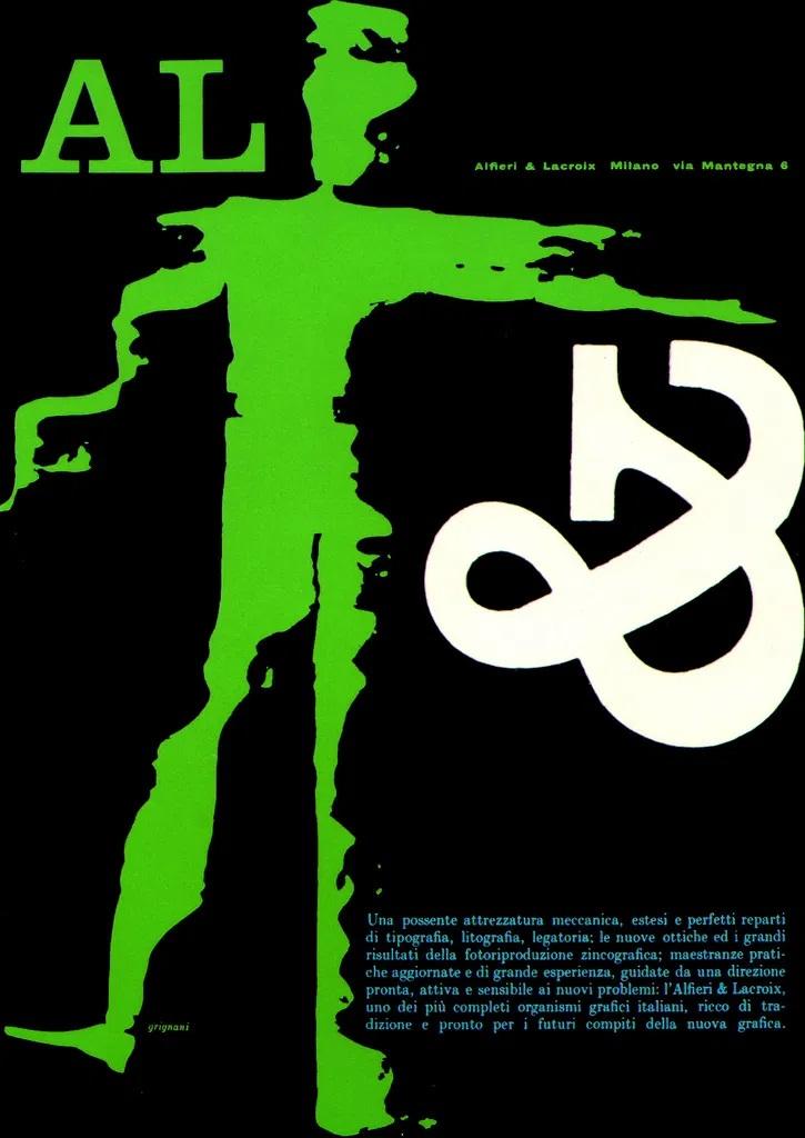 Franco Grignani, Ad for Alfieri & Lacroix, 1959