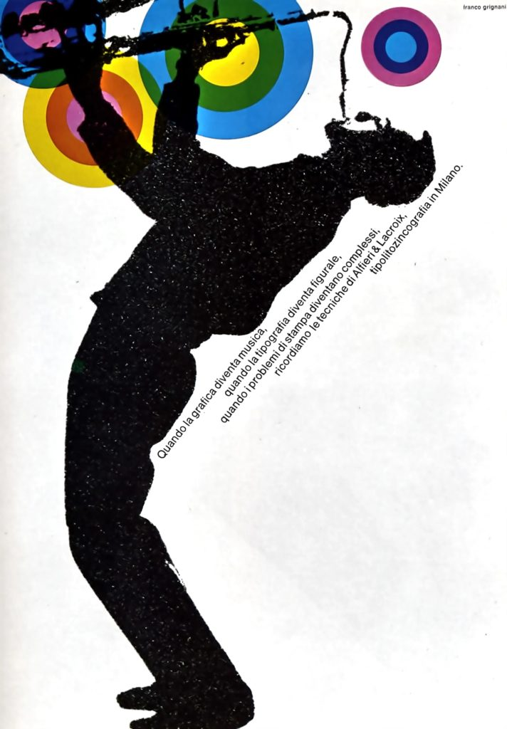 Franco Grignani, Ad for Alfieri & Lacroix, 1966