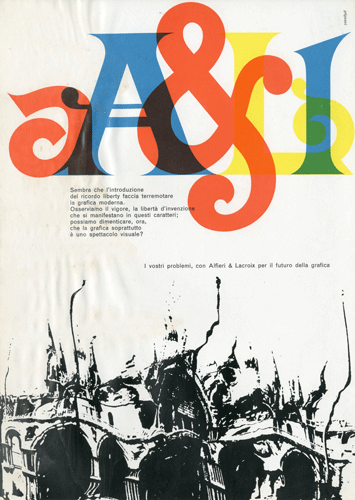 Franco Grignani, Ad for Alfieri & Lacroix, 60s