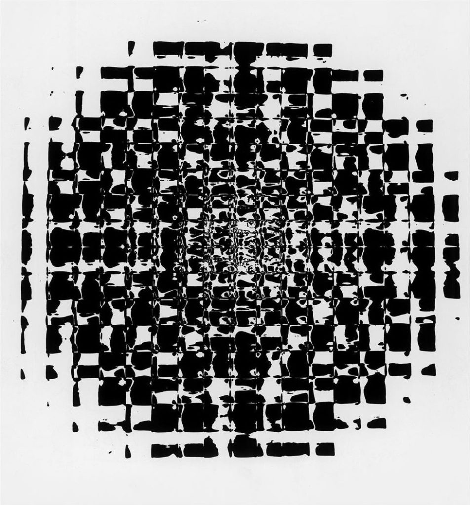 Franco Grignani, Optical alteration from an inductive structure, 1962