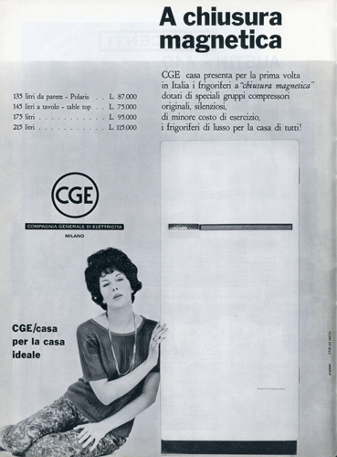 Franco Grignani, Ad for CGE, 1961