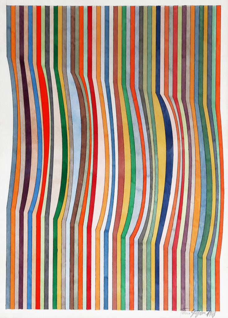 Franco Grignani, Curves inserted in the verticals, 1948