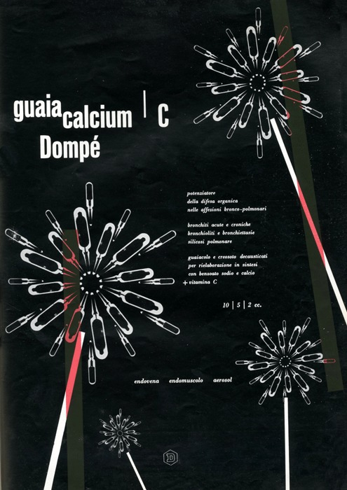 Franco Grignani, Ad for Dompé pharmaceutics, 1953