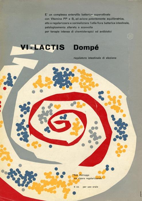 Franco Grignani, Ad for Dompé pharmaceutics, 1953