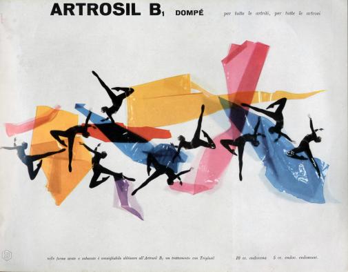 Franco Grignani, Ad for Dompé pharmaceutics, 1956