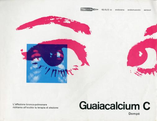 Franco Grignani, Ad for Dompé pharmaceutics, 1959