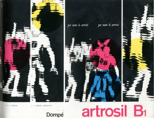 Franco Grignani, Ad for Dompé pharmaceutics, 1959
