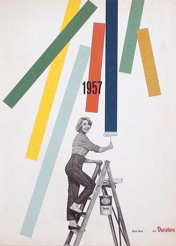 Franco Grignani, Ad for Ducotone, 1957