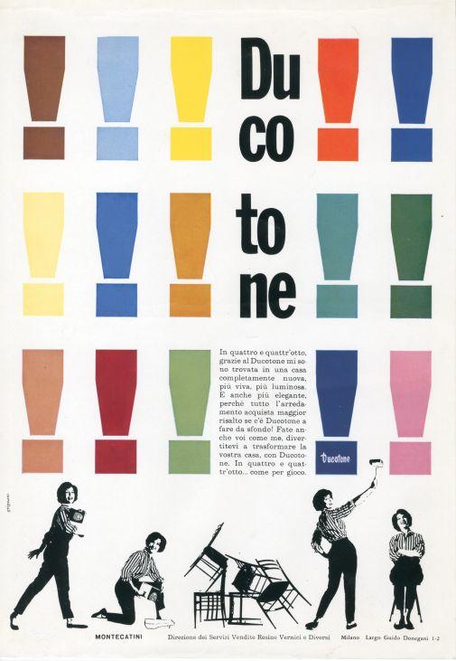 Franco Grignani, Ad for Ducotone, 1959