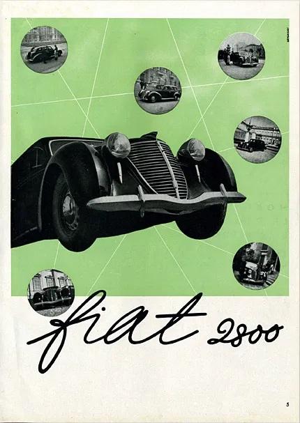 Franco Grignani, Fiat poster, 1939