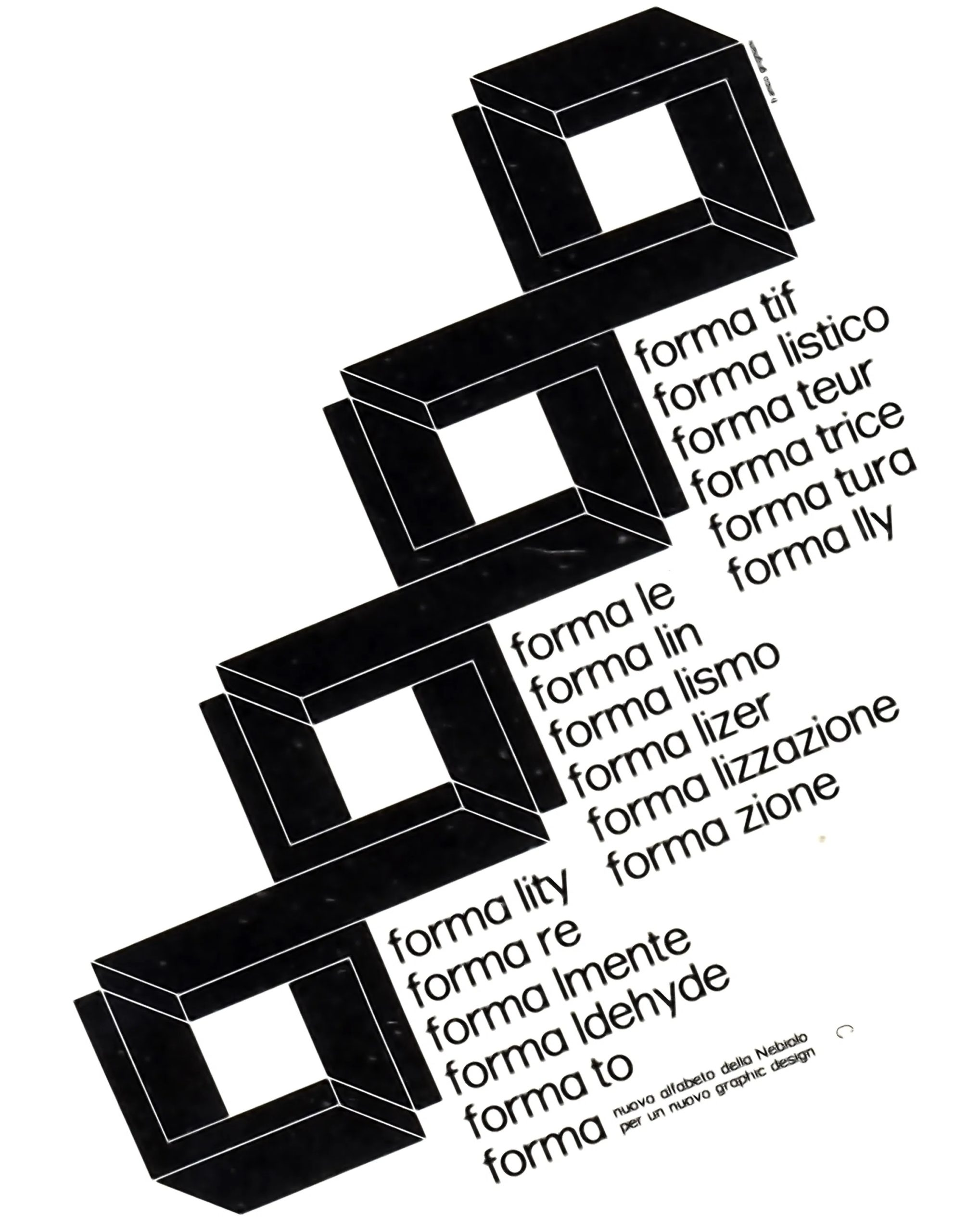 Franco Grignani, Forma, Società Nebiolo – Torino, 1968