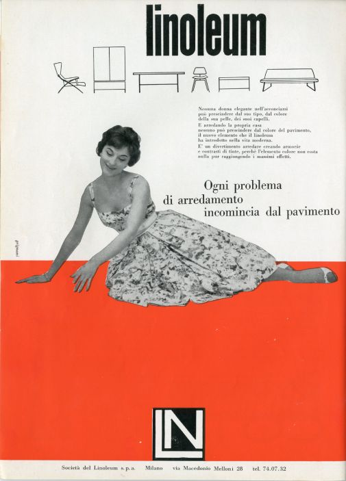 Franco Grignani, Ad for Linoleum, 1958