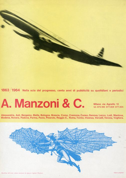 Franco Grignani, Ad for A. Manzoni & C., 1964