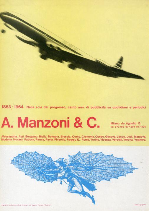 Franco Grignani, Ad for A. Manzoni & C., 1964