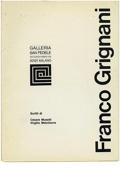 Franco Grignani alla Galleria San Fedele, Milano, 1969