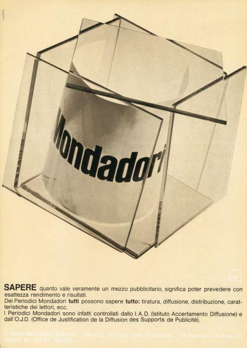 Franco Grignani, Ad for Mondadori, 1962