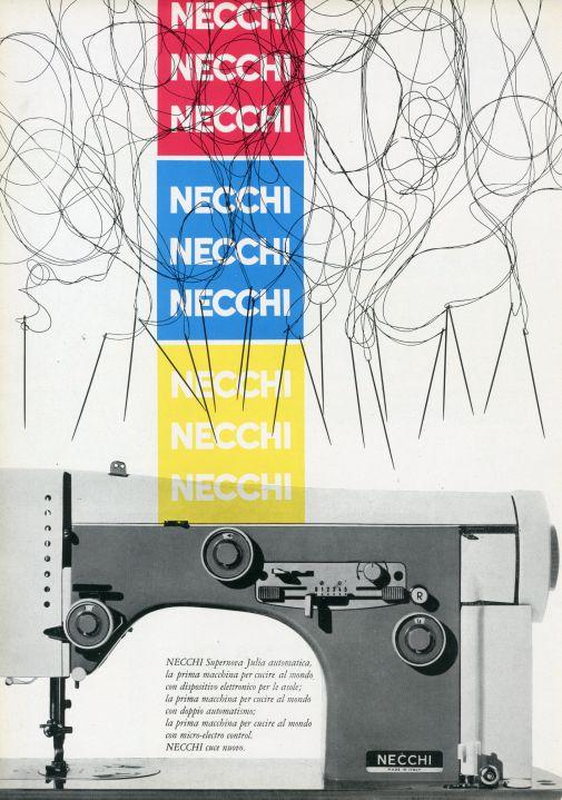 Franco Grignani, Ad for Necchi, 1958