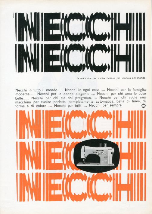 Franco Grignani, Ad for Necchi, 1958