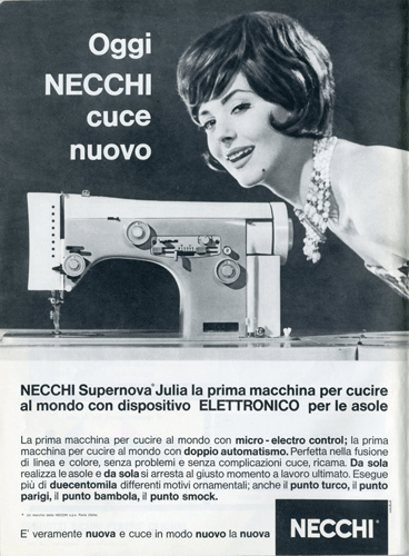 Franco Grignani, Ad for Necchi, 1961