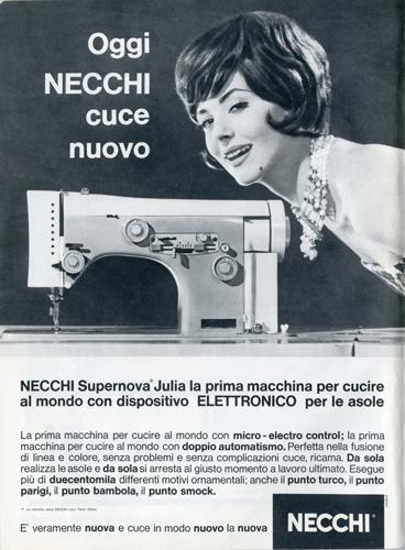 Franco Grignani, Ad for Necchi, 1961