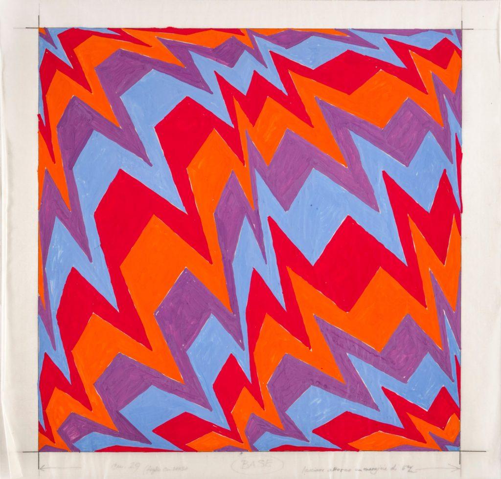 Franco Grignani, Preparatory Study for Silk-Screen Print