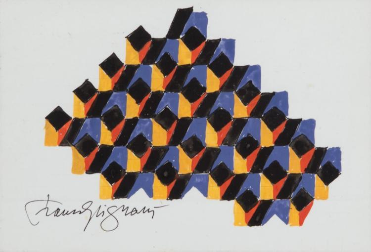 Franco Grignani, Structural pressure (sketch), 1992