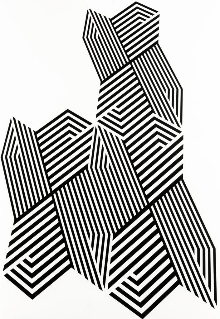 Franco Grignani, Psicostruttura n° 575, 1974