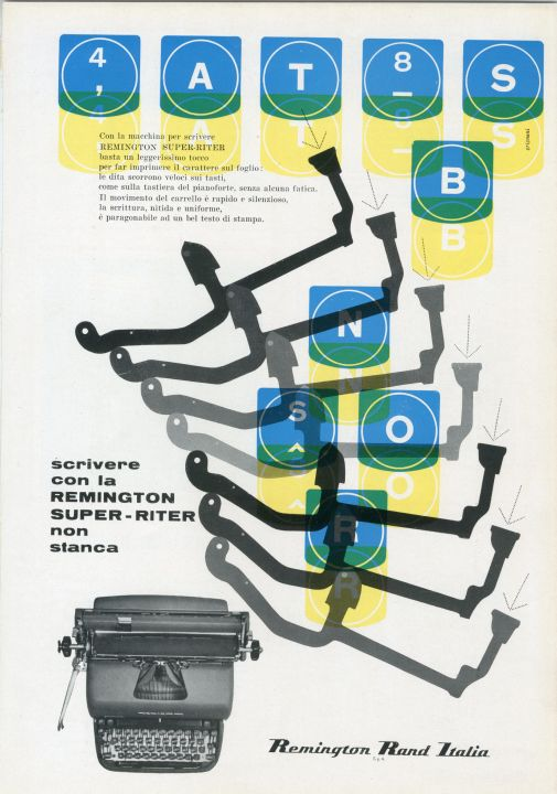 Franco Grignani, Ad for Remington Rand, 1957