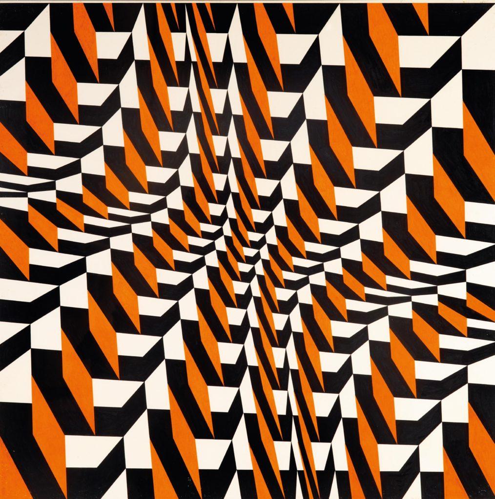 Franco Grignani, Shaded scalar puzzle, 1990