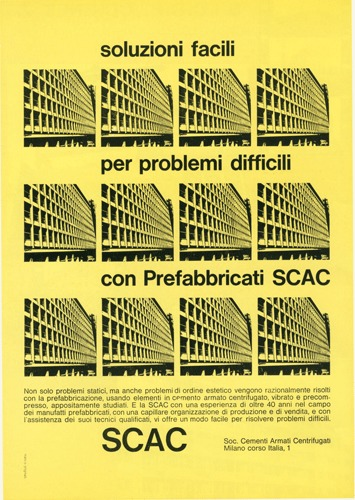 Franco Grignani, Ad for SCAC, 1960