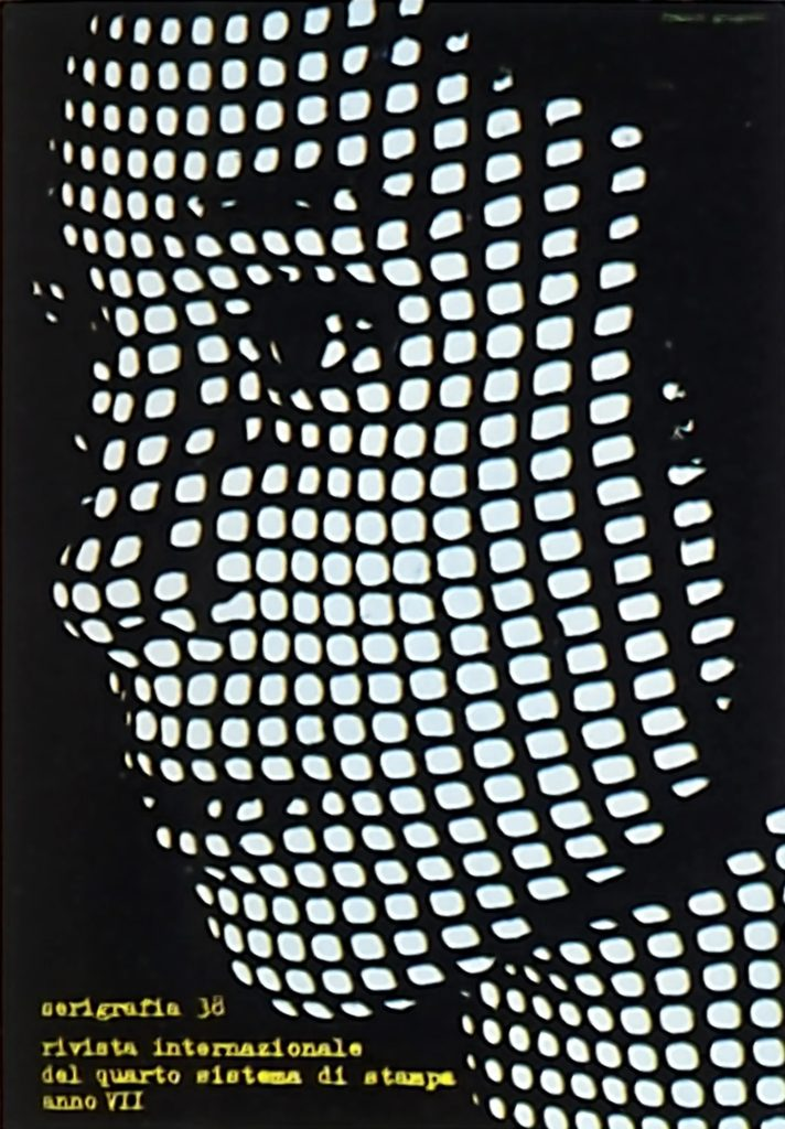 Franco Grignani, cover for Serigrafia n° 38, 1964