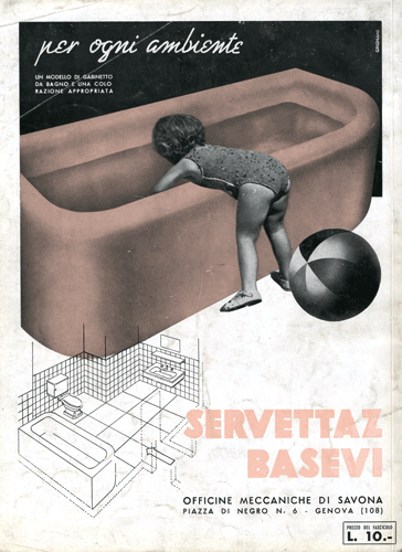 Franco Grignani, Ad for Servettaz Basevi, 1940