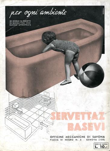 Franco Grignani, Ad for Servettaz Basevi, 1940