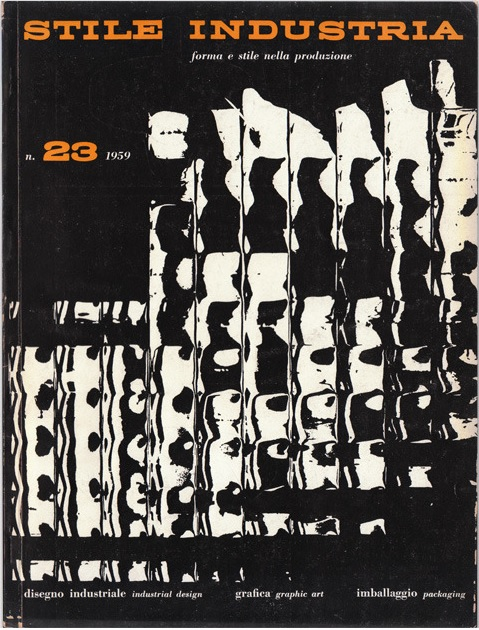 Franco Grignani, cover for Stile Industria, 1959