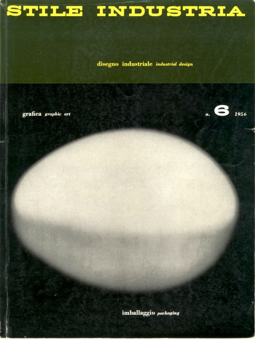 Franco Grignani, cover for Stile Industria, Ed. Domus, 1956