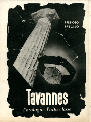 Franco Grignani, Ad for Tavannes, 1941