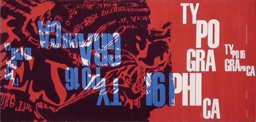 Franco Grignani, Typographica 16, cover test, 1959