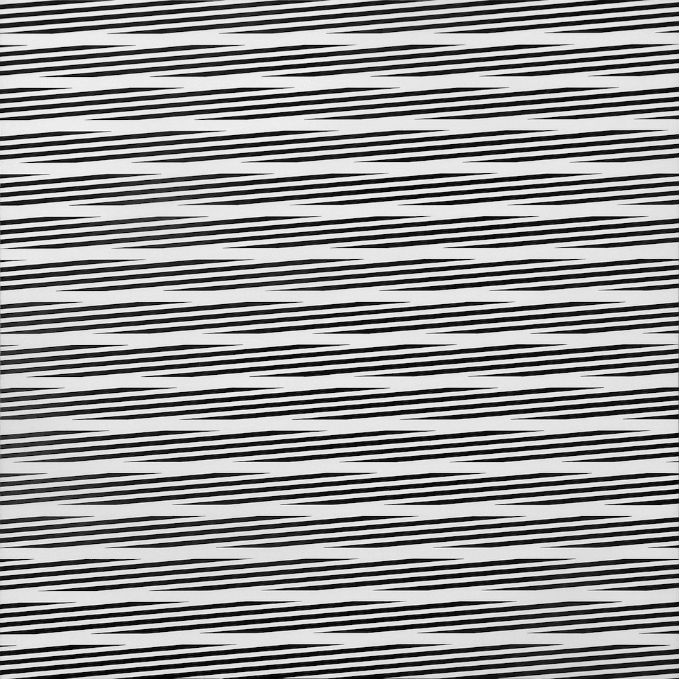 Franco Grignani, Oscillating linear field, 1975