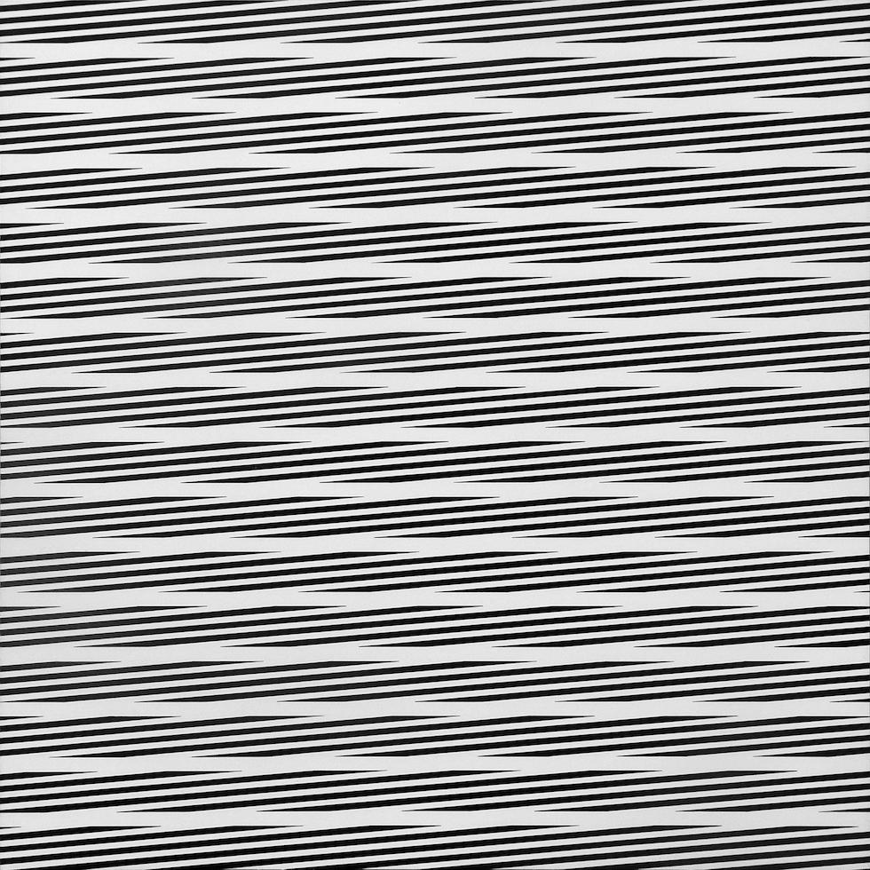 Franco Grignani, Oscillating linear field, 1975